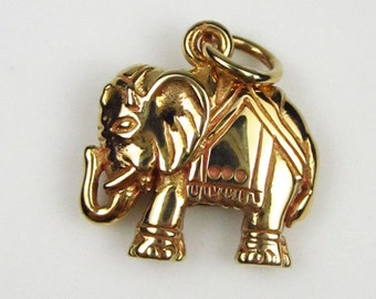 Natural Bronze Elephant Charm