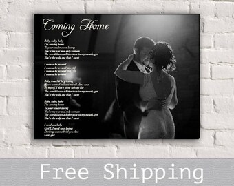 Song Lyrics Canvas - Wedding Song Canvas - First Dance song - Custom Canvas Print - Wall Decor - Anniversary Gift - Free Shipping