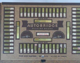 Vintage Autobridge Playing Board by Autobridge 1938