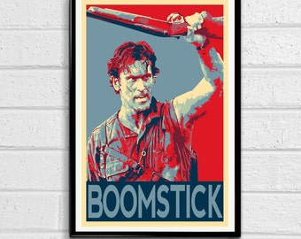 Ash Evil Dead Army of Darkness Bruce Campbell Boomstick Pop Art Poster Print Canvas