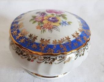 vintage porcelain box, Moschendorf, Bavaria, Germany circa 1910-1938