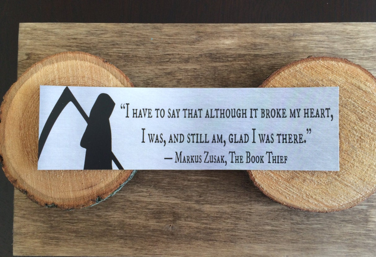 The Book Thief Quotes Book Thief Bookmark Quote Death I Have To Say That