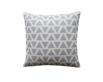 "Grey Triangles Pillow Cover, Geometric Cushion, 18"" x 18"" Decorative Pillow Cover Throw Pillow Couch Sofa Cushion Accent Pillow 166"