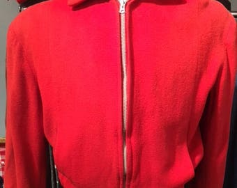 1950s Wool Red Bomber