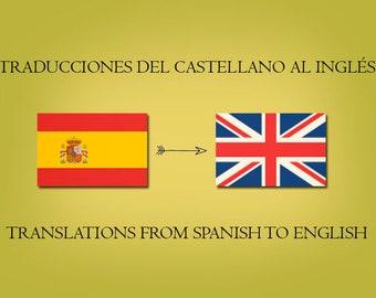 Translations Spanish to English