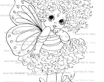 INSTANT DOWNLOAD Digital Digi Stamps Big Eye Big Head Dolls Digi IMG076 By Sherri Baldy