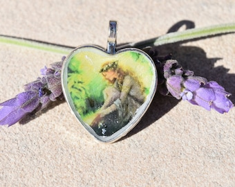 Lady at the Lake Resin Pendant