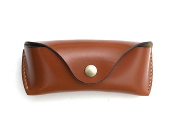 English Bridle leather Glasses case for Wayfarers handmade
