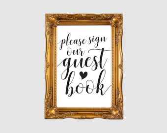 Please sign our guestbook sign, Wedding guestbook sign, Printable guest book sign printable, Rustic guest book sign, Instant download