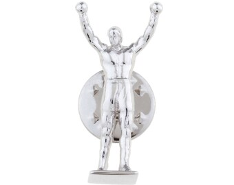 Rocky Balboa Statue Lapel Pin
