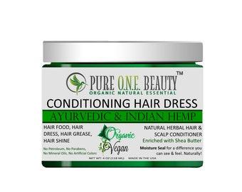 Ayurvedic & Indian Hemp Conditioning Hair Dress (Hair Dress, Hair Grease, Hair Food, Shine Pomade, Dry Scalp Oil, Hair Oil, Hair Moisturizer