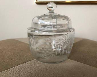 Partitioned Glass Jam Jar