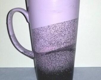 Purple Ceramic Mug 16 oz/Tall Ceramic Latte Mug/Tall Purple Mug/Large Purple Coffee Mug/Purple Ceramic Mug/Tall Purple Mug/Purple Mug 16 oz