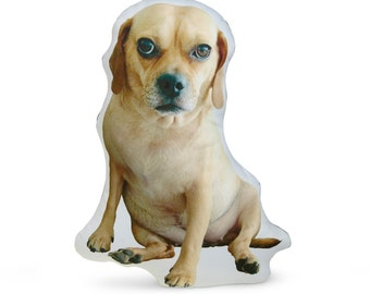Puggle Dog Cotton Photo Pillow