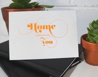 Anniversary /  I love you / valentines / letterpress card