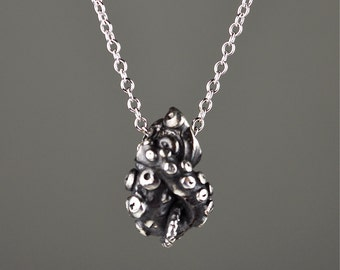 Sale- Tentacle Knot Pendant, Sterling Silver