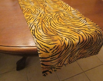 Tiger Print Table Runner, Safari Party Decorations, Baby Shower, Birthday Party, Wedding, Zoo Party, Animal Print