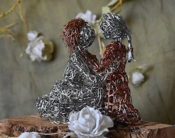 Wire Sculpture - Mother and Child