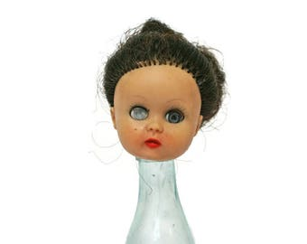 Vintage Doll Head  /  Creepy Doll Parts /  Head for Repurposing and Assemblage  /  Creepy Oddity