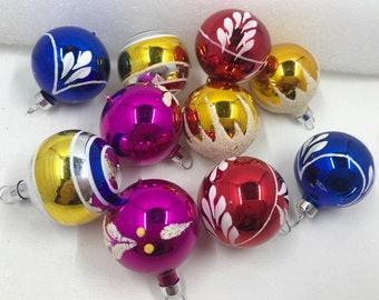 Vintage Christmas Tree Ornaments, Vintage Ornaments, ornament, snow capped ornament