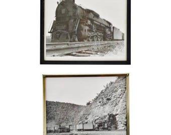 Vintage J1 6492 Steam Locomotive Pennsylvania Railroad Black & White Photographs - Set of 2