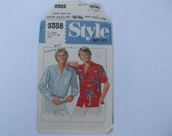 Pattern style 33358 mens shirt size 46-48 unused