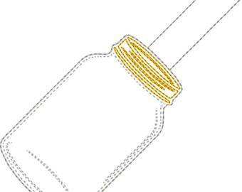 Blank Mason Jar Key Fob/ Zipper Pull design Instant Download