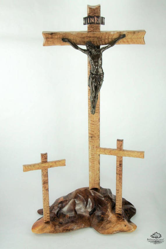 Exceptionnel Tabletop Calvary With Crucifix Incredibly Unique Artisan