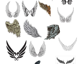 17-Wings -Digital Clipart-Clipart-Digital-Party-Backgrounds-Notebook-Banner-Jewery.
