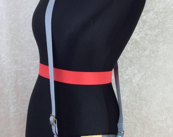 Handmade shoulder bag purse cross body bag The Jane fabric bag Alexander Henry Mermaids Sea Sirens