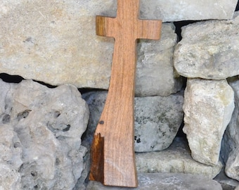 Wood Cross; Rustic Decor; Wood Wall Cross; Mesquite Wall Cross; Military Graduation Gift; Graduation; Confirmation; Free Ground Shipping USA