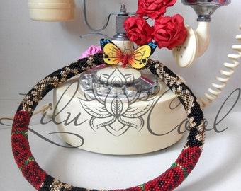 "Bead crochet necklace ""Passion"""