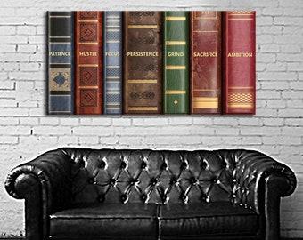 03 Bookshelf Inspiring Motivational Poster Art Pop Art Print