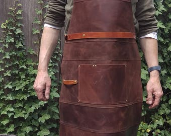 Professional  Lederen Schort BBQ - Keuken_Professional  Leather Apron  BBQ - Kitchen_Papa's+Mama's