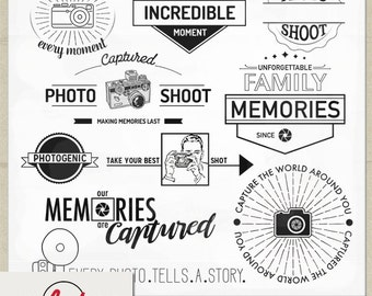 Digital and Printable Overlay Word Art Set - Instant Download - Photo Shoot - Photography Overlays