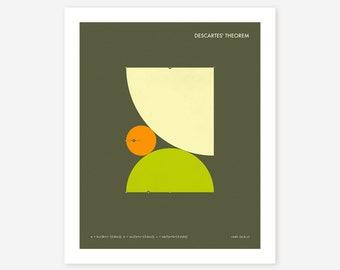 DESCARTES' THEOREM (Giclée Fine Art Print/Photo Print/Poster Print) Brown version