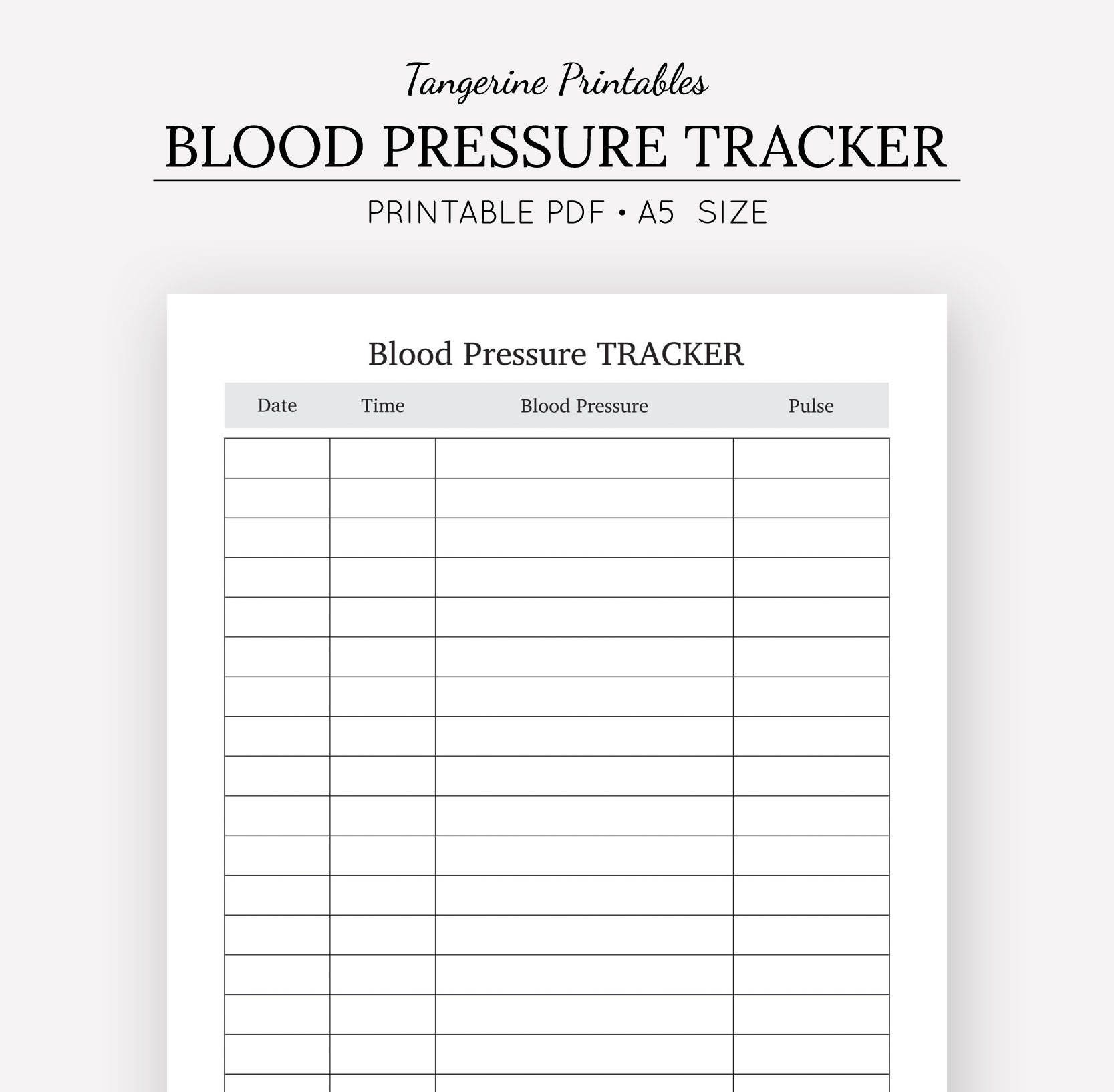 Blood pressure tracker health journal a5 insert a5 zoom nvjuhfo Choice Image