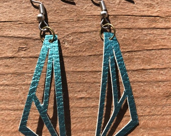 Faux Leather Cut-Out Earrings