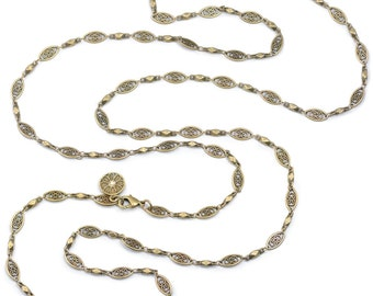 Filigree Necklace, Layered Necklace, Long Necklace, Long Layered Necklace, Layered and Long, Layering Necklace, Filigree Jewelry N1317