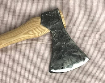 Hand forged axe.  ax with wrapped eye and forge welded high carbon steel edge, great Christmas or holiday gift idea