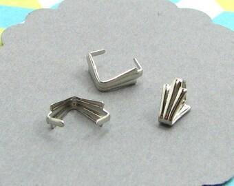 20 bails pinch silver 6mm AA38