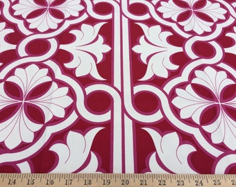 "Vicki Payne For Your Home Free Spirit    Links  cherry Westminster Fibers HDVP 17 100% cotton sateen decor fabric 56"" wide sold by the yard"