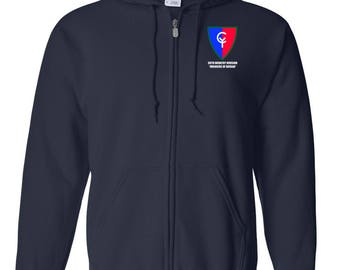 38th Infantry Division Embroidered Hooded Sweatshirt w/ Zipper-7522