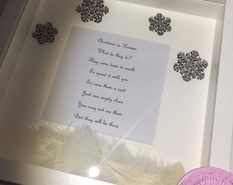 Christmas in Heaven handmade box frame