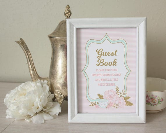 Guest Book Instructions For Baby Shower Sign Write In