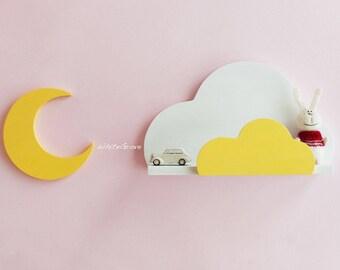 Cloud,Shelf,Cloud Shelf,Cloud Nursery Decor,Cloud wall decor,cloud kids decor,wall hanging cloud,nursery decor,ledge,cloud ledge,bookshelf