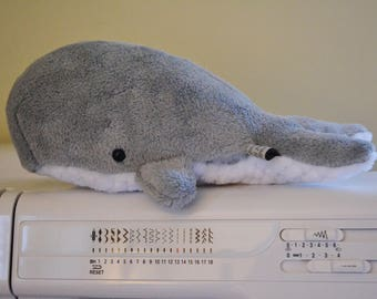 Sperm Whale Light Grey Baby Sized plush