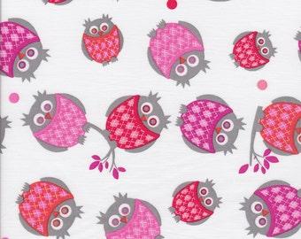 Argyle Owls - Pink - Stenzo Poplin