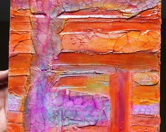 Original-Handmade-Textured Abstract Painting-signed by artist