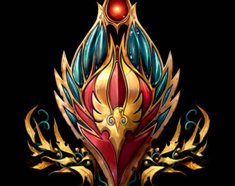 World of Warcraft blood elf crest wall art